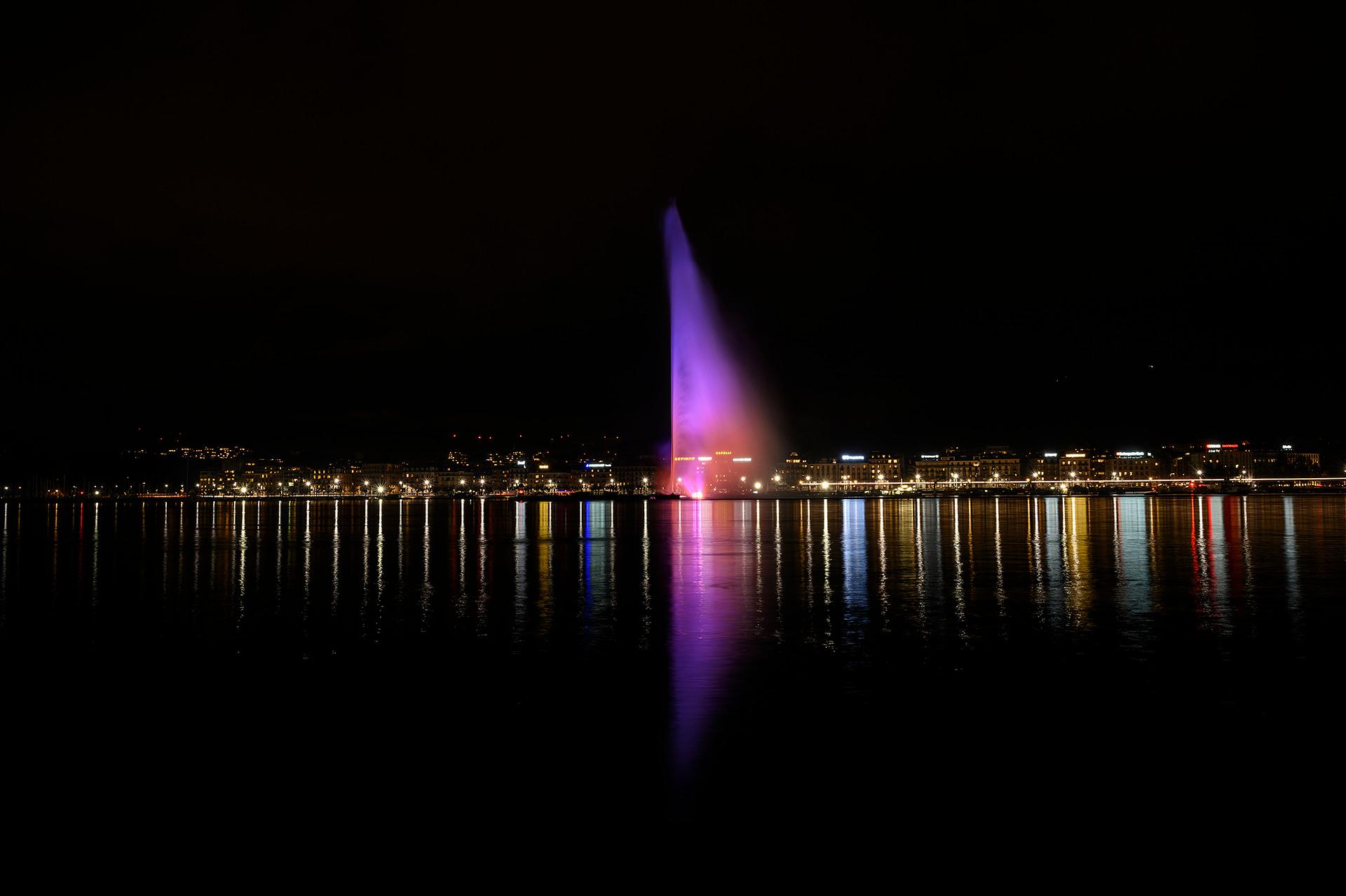 Jet d'Eau, Geneva, Switzerland by Manon Voland