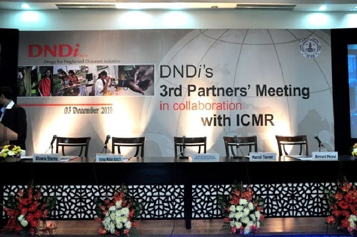 Stage of the DNDi's 3rd Partners' Meeting in collaboration with ICMR