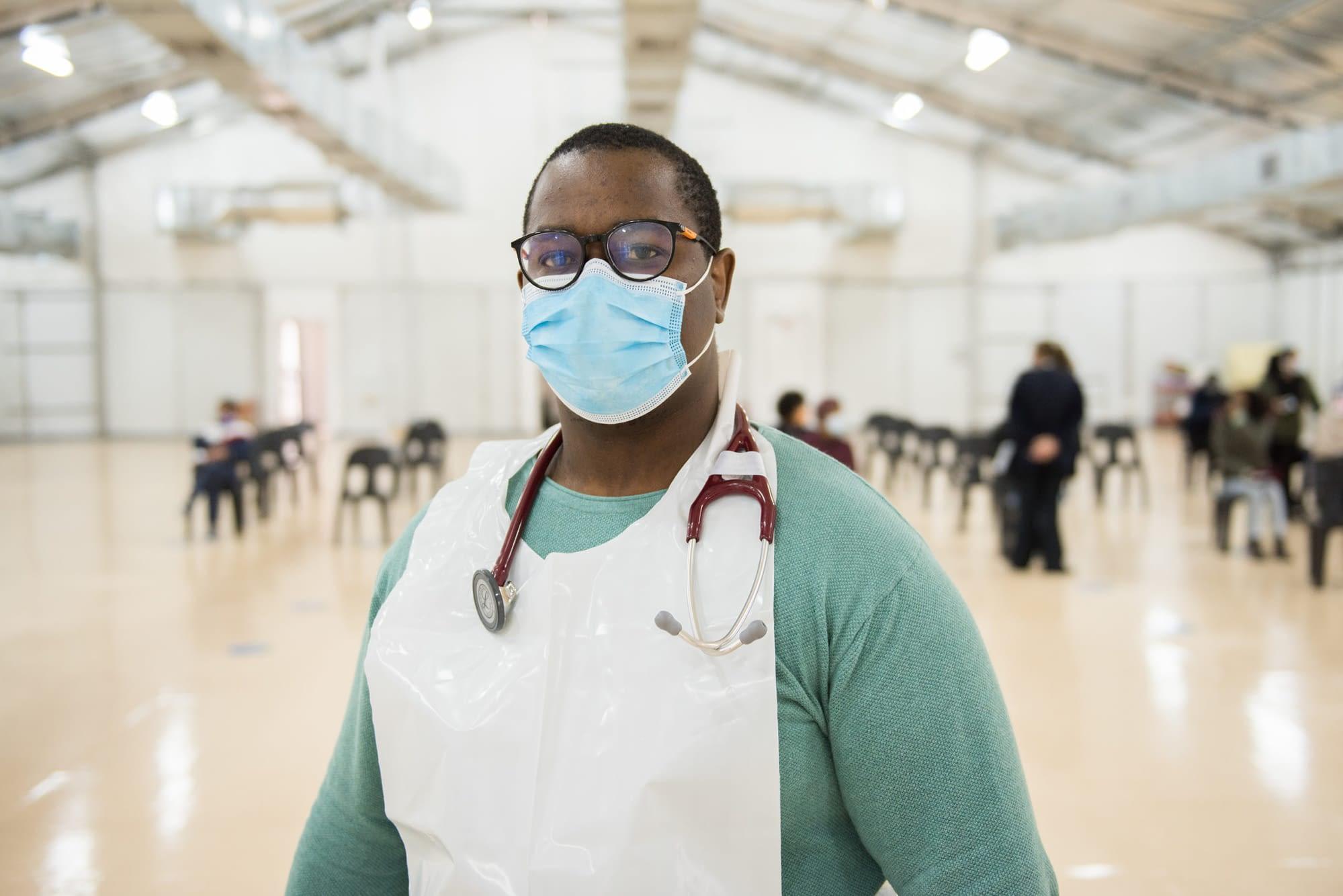 Healthcare worker in hospital