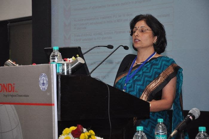 Dr. Neena Valecha, Deputy Director, National Institute of Malaria Research, India, presenting during Session 2