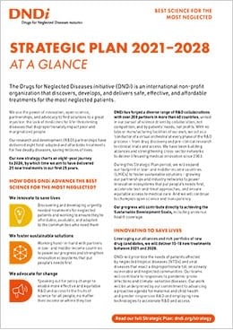 Strategic Plan 2021-2028 at a glance coverpage