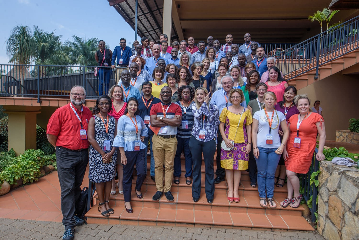 Participants, drawn from the various disease areas, attending the clinical trial training pose for a group photo.