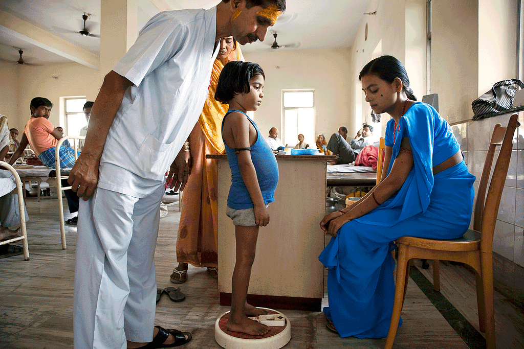Leishmaniasis patients in a hospital