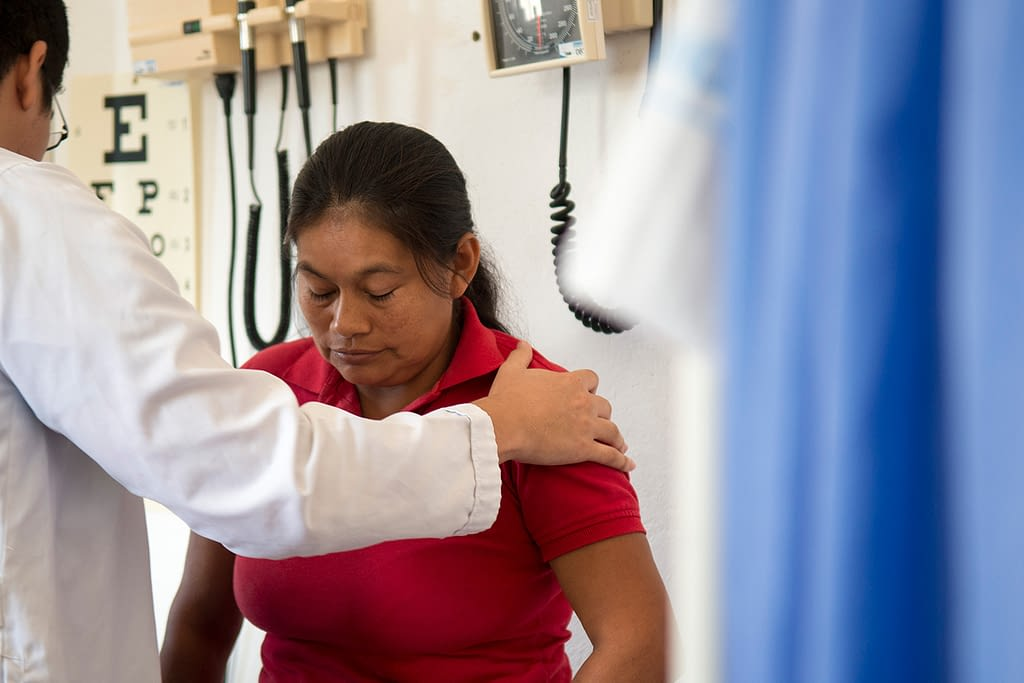 Women being tested for Chagas in Colombia
