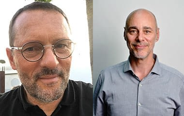 Portraits of Laurent Fraisse and Rudi Paye