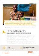Cover page leishmaniasis disease factsheet
