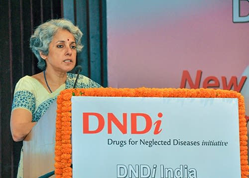 Dr Soumya Swaminathan, Secretary, Department of Health Research and Director General, ICMR addressing the gathering.