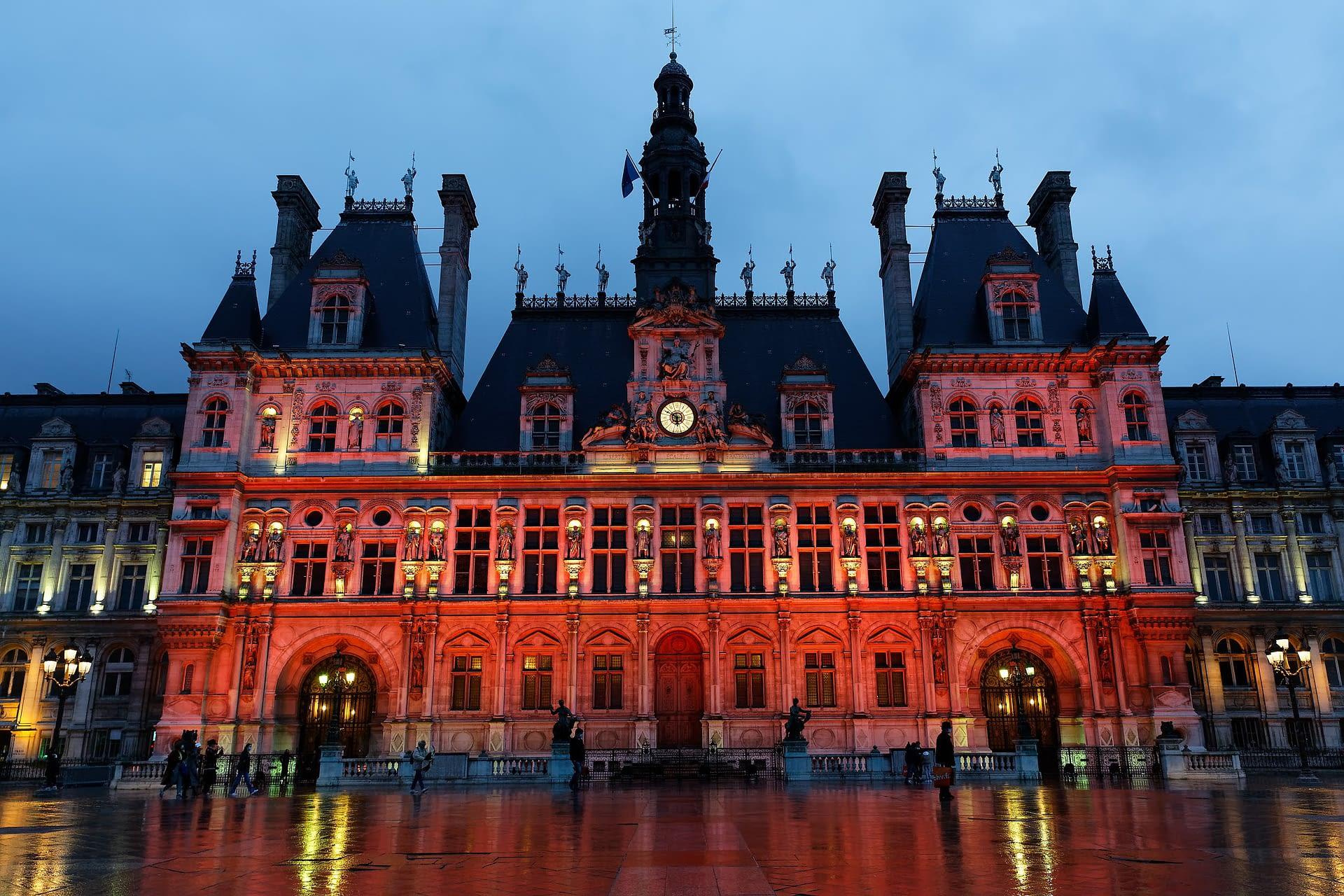 City Hall, Paris, France by Henri Garat