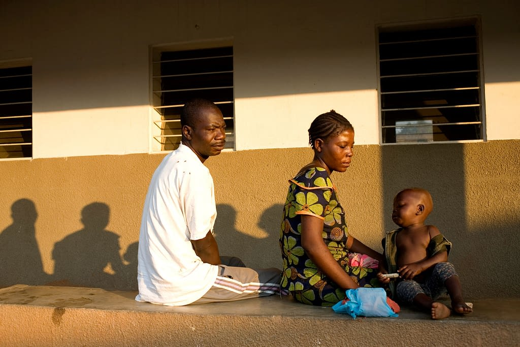 Patients at clinic in DRC