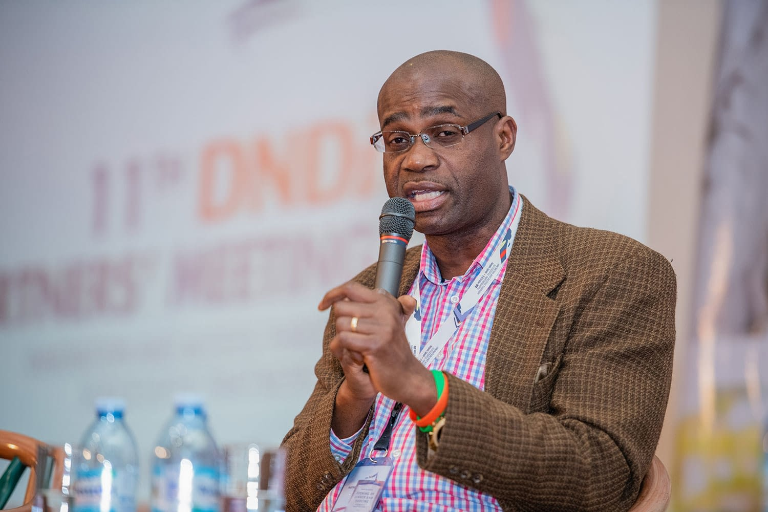 Prof. Kelly Chibale of University of Cape Town, South Africa gives a keynote address on innovation in health Research and Development (R&D) in Africa, for Africa.