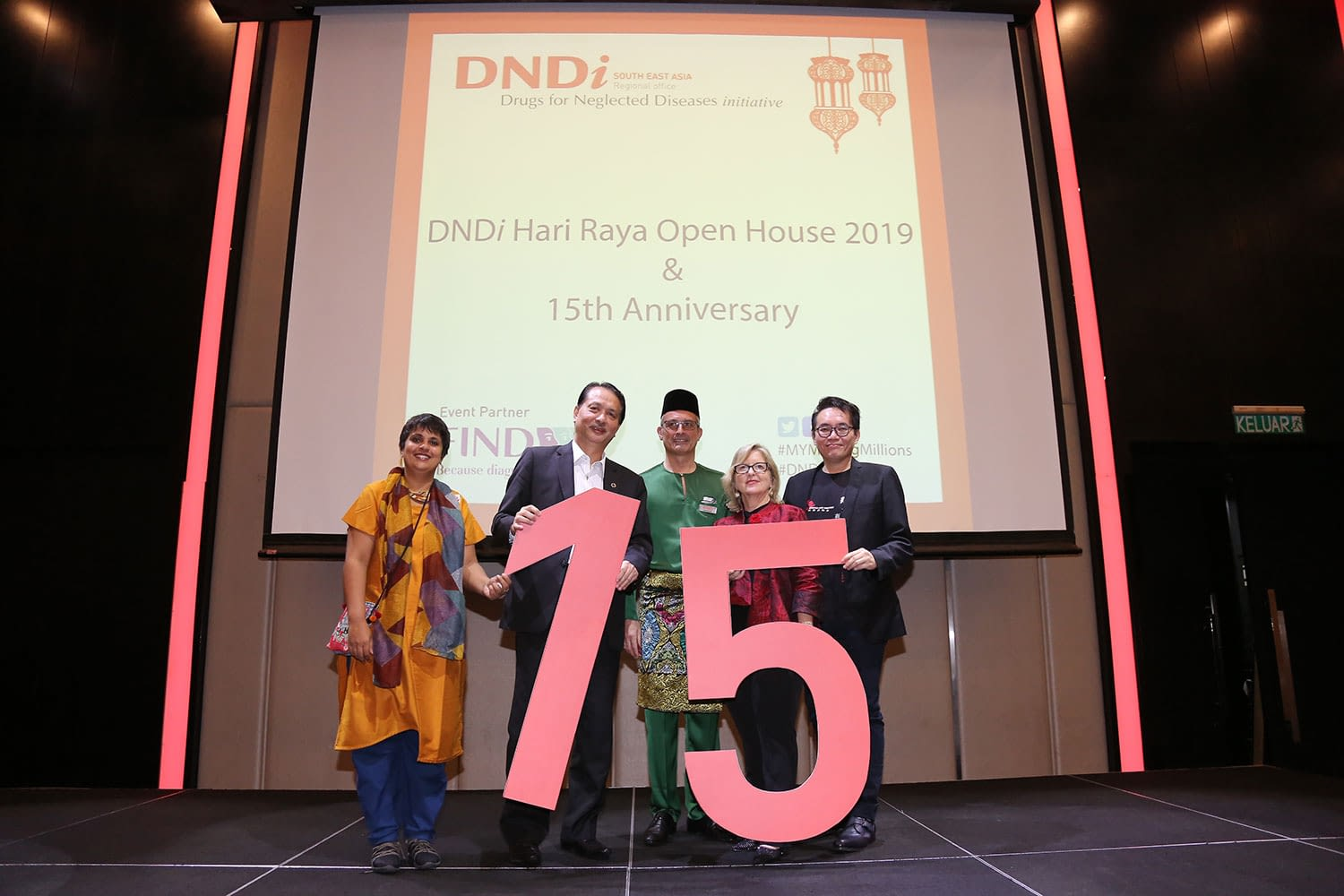 From left: Leena Menghaney of MSF Access Campaign in India, Datuk Dr Noor Hisham Abdullah of the Ministry of Health of Malaysia, Jean-Michel Piedagnel Director of DNDi South-East Asia, Joelle Tanguy DNDi's Director of External Affairs, and Dr Nason Tan of Médecins Sans Frontières (MSF) Hong Kong.