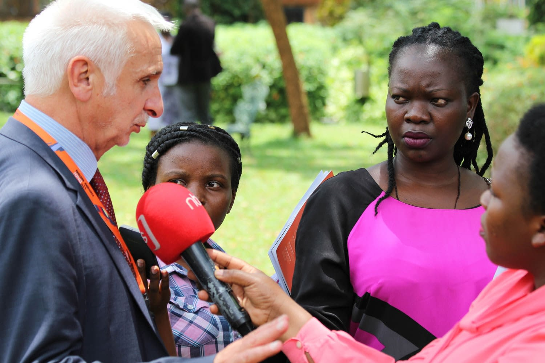 Dr Bernard Pecoul, Executive Director DNDi addresses questions from journalists.