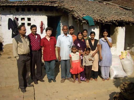 Prof Marleen Boelaert in kala azar endemic villages in Bihar in 2006.