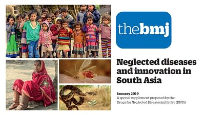 Flyer of DNDi and The BMJ special collection on Neglected diseases and innovation