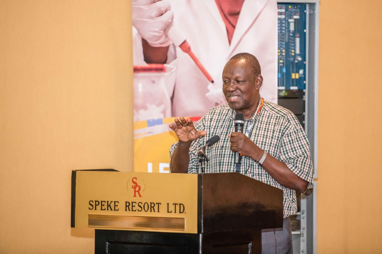 Prof. Joseph Olobo of Makerere University, Uganda giving the welcoming remarks during the 25th LEAP Platform Meeting.