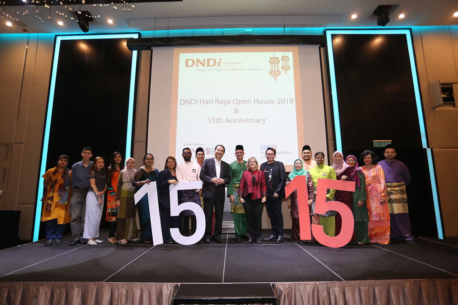 Stakeholders, partners, and staff at DNDi 15th Anniversary and Open House in South-East Asia