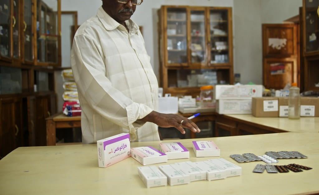 Pharmacist with mycetoma drugs