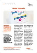Coverpage of the Pandemic Response Box Factsheet