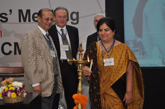 Opening ceremony – Lightening ceremony - Dr.V.M. Katoch, Dr. Bernard Pécoul, Dr. Marcel Tanner, Dr. Bhawna Sharma