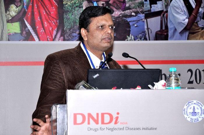 Dr. Shyam Sundar, Professor of Medicine, Institute of Medical Sciences, Banaras Hindu University, India, presenting during Session 2
