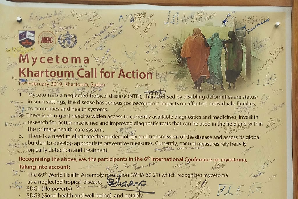 Mycetoma Call for Action signed at the Mycetoma Conference in Sudan