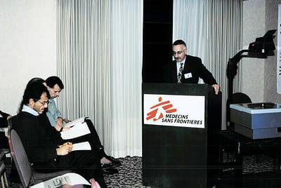 Bernard Pécoul presenting